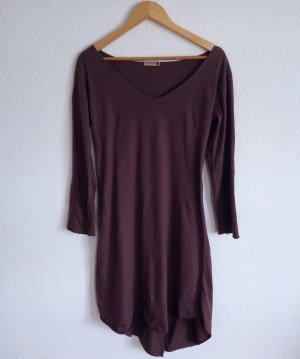 620€ Vintage by Fé Designer Lagenlook Longshirt Shirt Kleid Taupe Braun American
