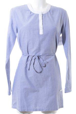 667 Shirtkleid himmelblau-weiß Business-Look