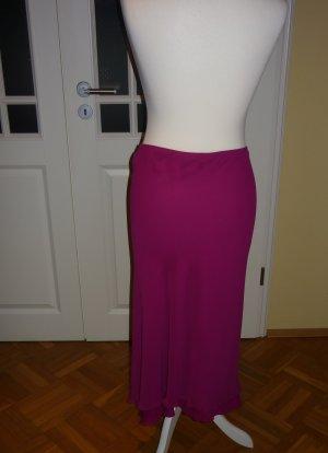 Mango Flounce Skirt magenta polyester