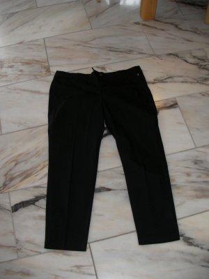 7/8 Bundfalten Stoffhose black