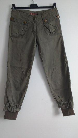 7/8 Grüner grauer Jeans