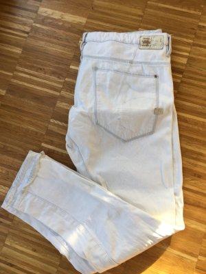 7/8 heavy used jeanswhite