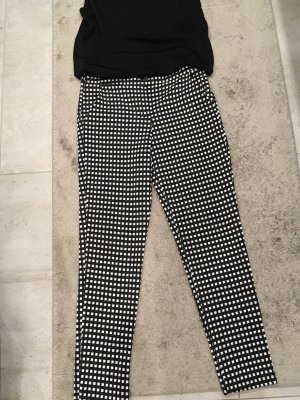 Kimika Pantalon 7/8 blanc-noir
