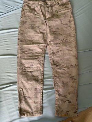 Blue Fire Denim Shorts beige