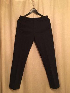 Bershka 7/8 Length Trousers dark blue