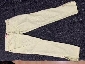 Venca Pantalon 7/8 jaune clair-jaune primevère