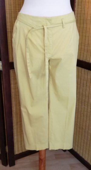Escada 3/4 Length Trousers lime yellow cotton
