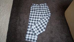 Pantalon 3/4 blanc-noir polyester
