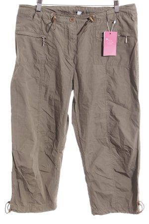 Pantalon 7/8 gris brun style décontracté