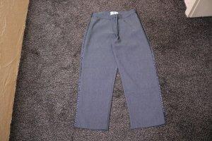 Pantalón tobillero gris tejido mezclado