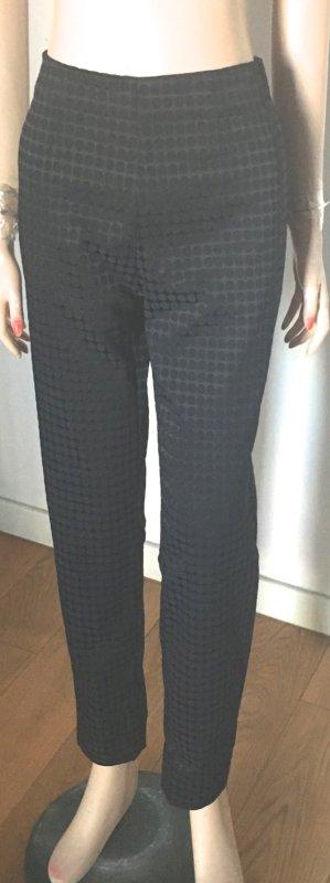 Raffaello Rossi Pantalón tobillero negro-azul oscuro tejido mezclado