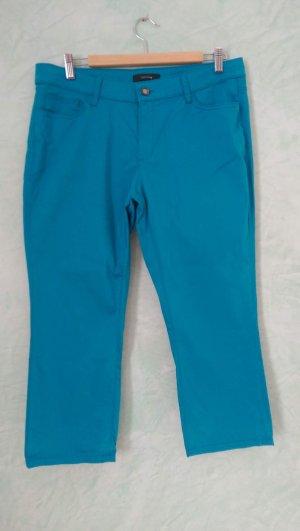 Comma 7/8 Length Trousers neon blue cotton