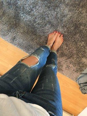 Jeans a 7/8 blu