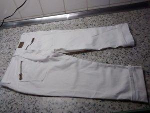 Amisu Jeans a 7/8 bianco