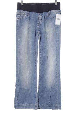 Jeans a 7/8 blu-azzurro stile jeans