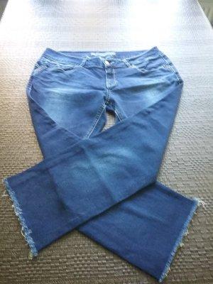 Pantalón tobillero azul