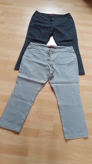 Laura di Sarpi Jeans a 7/8 grigio chiaro-antracite Tessuto misto
