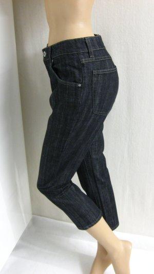 7/8 Jeans/Stiefeljeans, schwarz