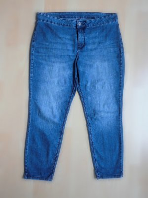 Jeans 7/8 bleu acier