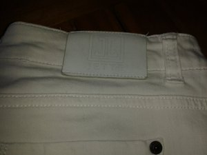 Jette Jeans 7/8 blanc tissu mixte