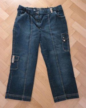 Kj Brand 7/8 Length Trousers dark blue mixture fibre