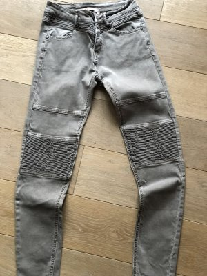 Jeans a 7/8 marrone-grigio