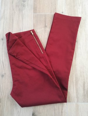 7/8 rote Hose ohne Taschen / Sommerhose / SALE / Gr. 38