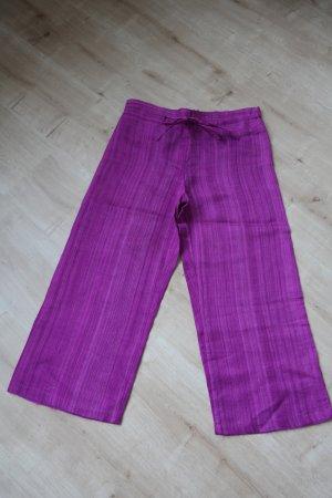 Marlene Trousers dark violet-magenta silk