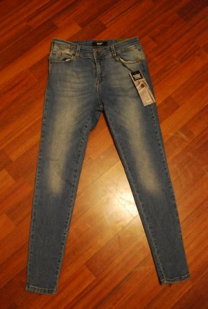 7/8 Skinny Jeans Object Medium Blue Denim W30