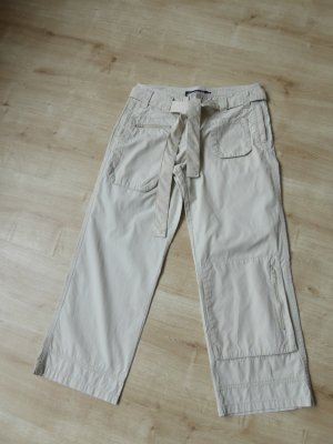 Tom Tailor 7/8-broek licht beige-beige Katoen