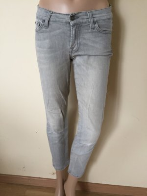 7 For All Mankind Skinny Jeans light grey