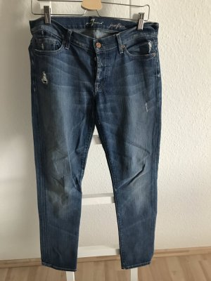 7 For All Mankind Boyfriend Jeans dark blue-steel blue