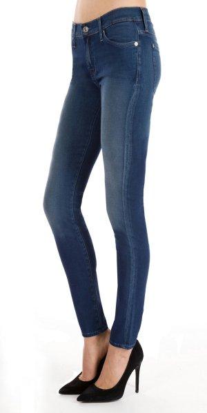 7 For All Mankin The Skinny Superior Sateen Indigo blau super skinny jeans w23