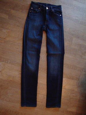 7 For All Mankind Jeans blu scuro Tessuto misto