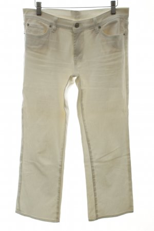 7 For All Mankind Pantalon 3/4 blanc style décontracté