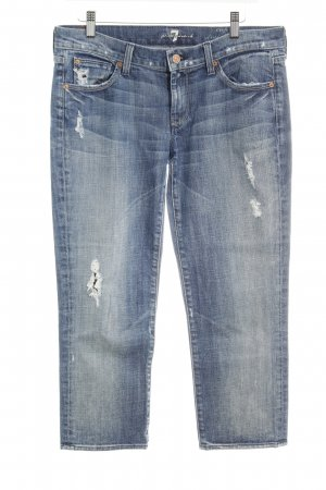 7 For All Mankind Vaquero 3/4 gris pizarra estilo relajado