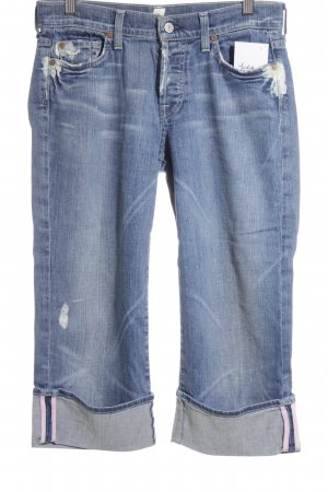 7 For All Mankind 3/4 Jeans stahlblau-blau Casual-Look