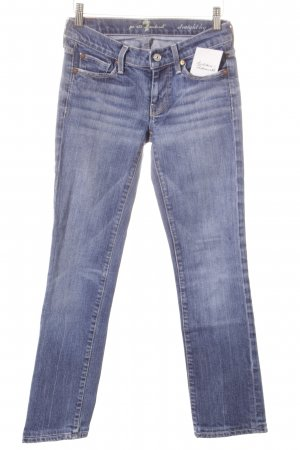 7 For All Mankind 3/4 Jeans stahlblau Casual-Look
