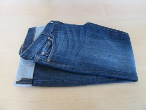 7 For All Mankind Jeans a gamba dritta blu scuro Cotone