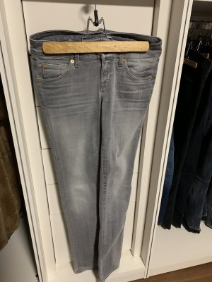 7 For All Mankind Jeans stretch gris-gris clair