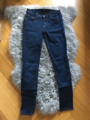 7 for all mankind 7fam Hose Jeans Skinny w24 34 XS blau Röhrenhose