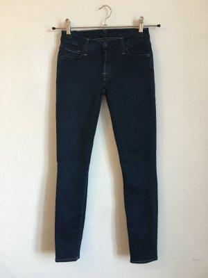 7 For All Mankind 7fam Jeans Skinny Hose W24 Blau 34 36 Röhrenhose röhrenjeans