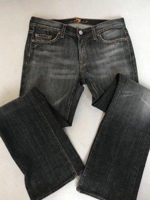 7 For All Mankind Vaquero de corte bota gris oscuro