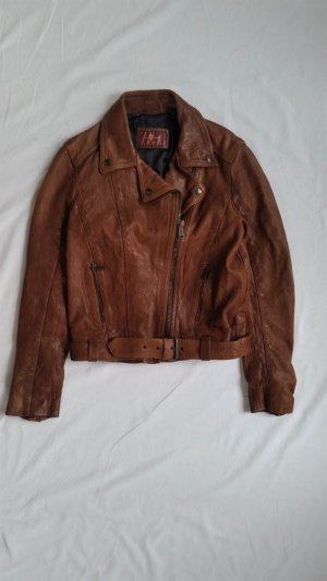 7 For All Mankind, Bikerjacke, cognac, Leder, S, neu, € 900,-