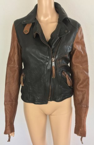 7 For All Mankind, Bikerjacke, schwarz-braun, Leder, XS, neu, € 900,-