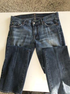 7 For All Mankind Jeans svasati blu acciaio