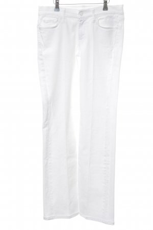 7 For All Mankind Vaquero de corte bota blanco look casual