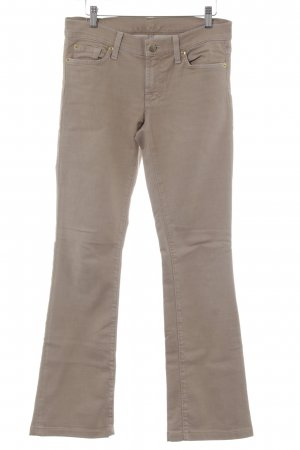 7 For All Mankind Vaquero de corte bota beige estilo sencillo