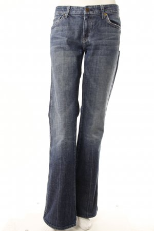 7 For All Mankind Boot Cut Jeans Blau
