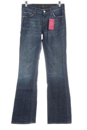 7 For All Mankind Jeans bootcut bleu lavage à l'acide